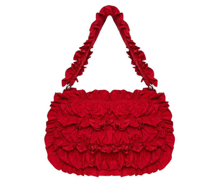 Molly Goddard Sapporo Ruffle Shoulder Bag, £ 520, mollygoddard.com