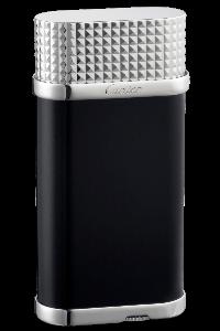 Cartier Clou de Paris, £750, cartier.com: classic soft-flame lighter in black composite with palladium details
