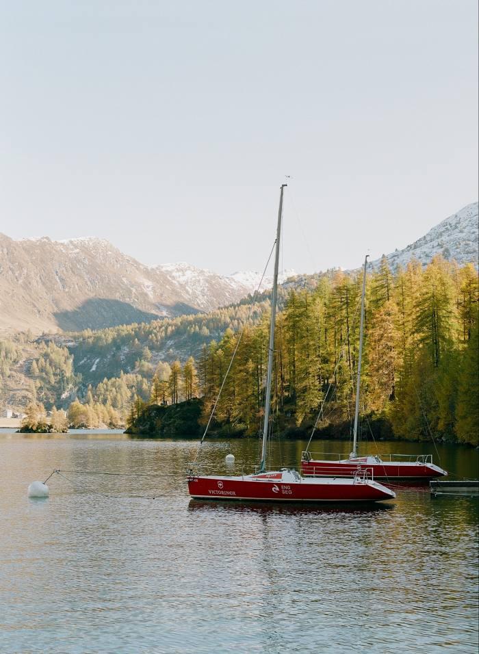 Boats on Lake Sils