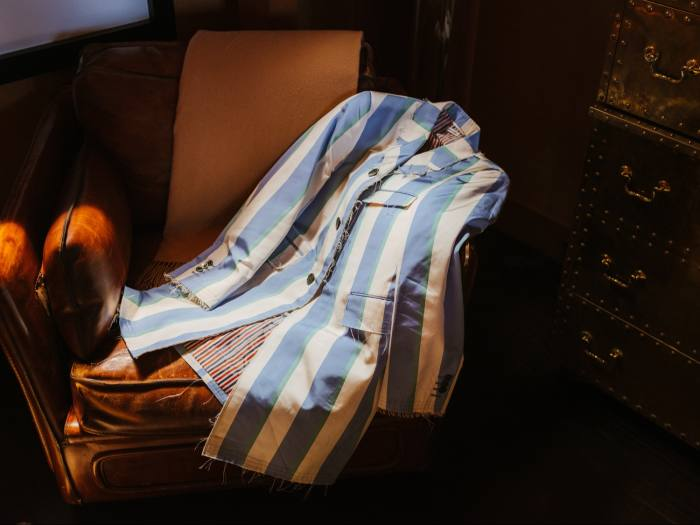 His Thom Browne blazer