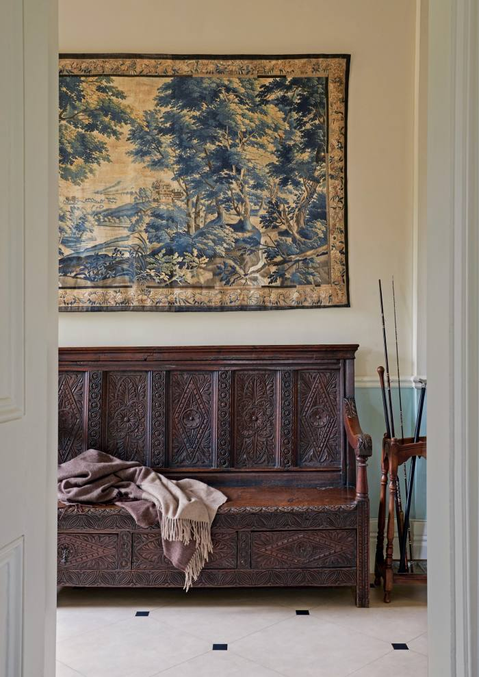 Zardi & Zardi Frampton verdure tapestry wall hanging, £1,415, as seen in a country house designed by Pandora Taylor