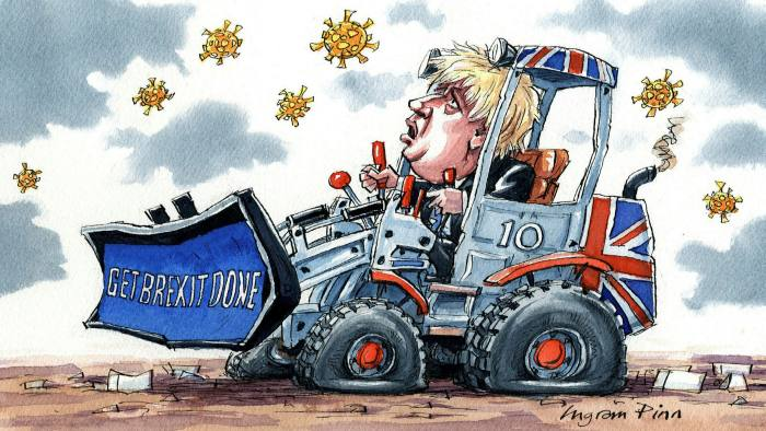 Ingram Pinn illustration of Philip Stephens column 'How Boris Johnson lost control'