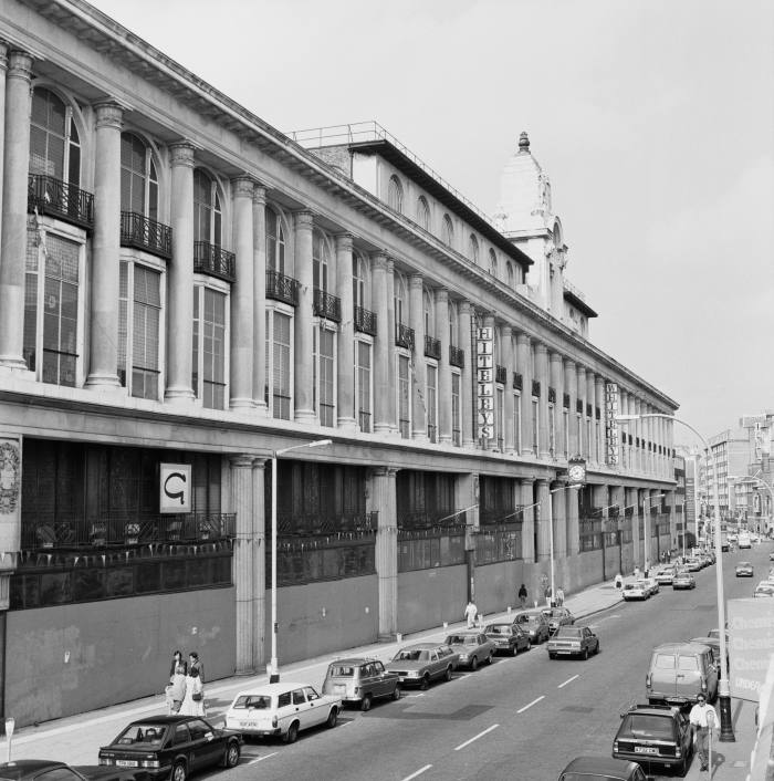Exterior view of the Whiteleys department store in 1984