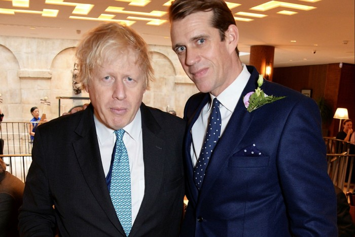 Boris Johnson and Ben Elliot in 2018. Johnson appointed Elliot Conservative party co-chair the following year