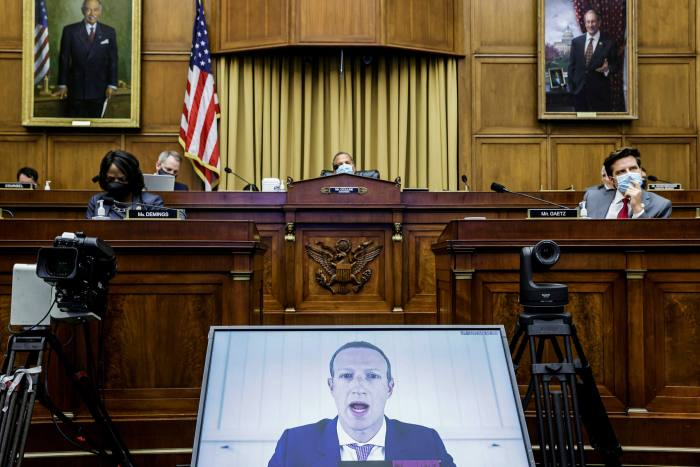 Facebook's Mark Zuckerberg heard the video's opposition to the House Judiciary subcommittee.  The Federal Trade Commission is investigating the group with several states