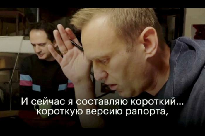 Mr Navalny makes a phone call from Germany, during which he tricked an alleged hitman into apparently disclosing details of the botched plot to kill him