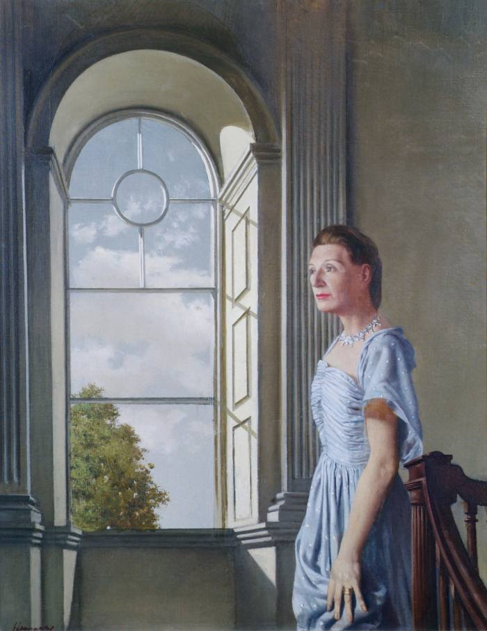 Elizabeth Bowen at her ancestral home, Bowen's Court, painted by Patrick Hennessy in 1957