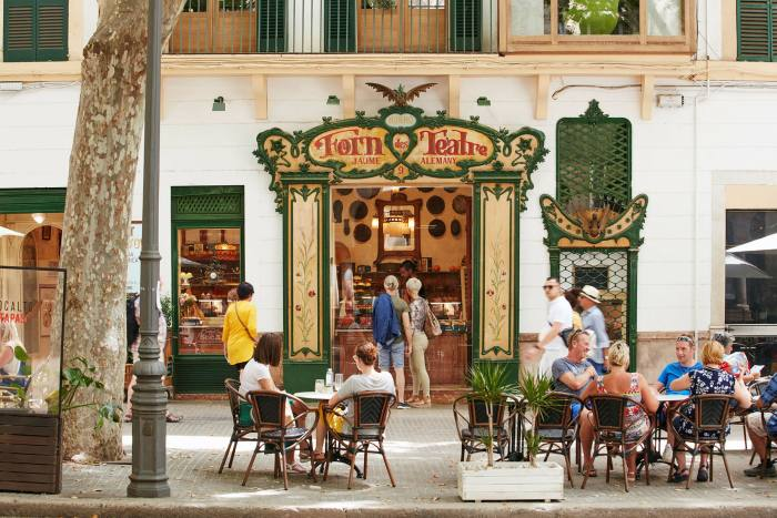 The famous Forn des Teatrebakery in Palma, the capital of Mallorca