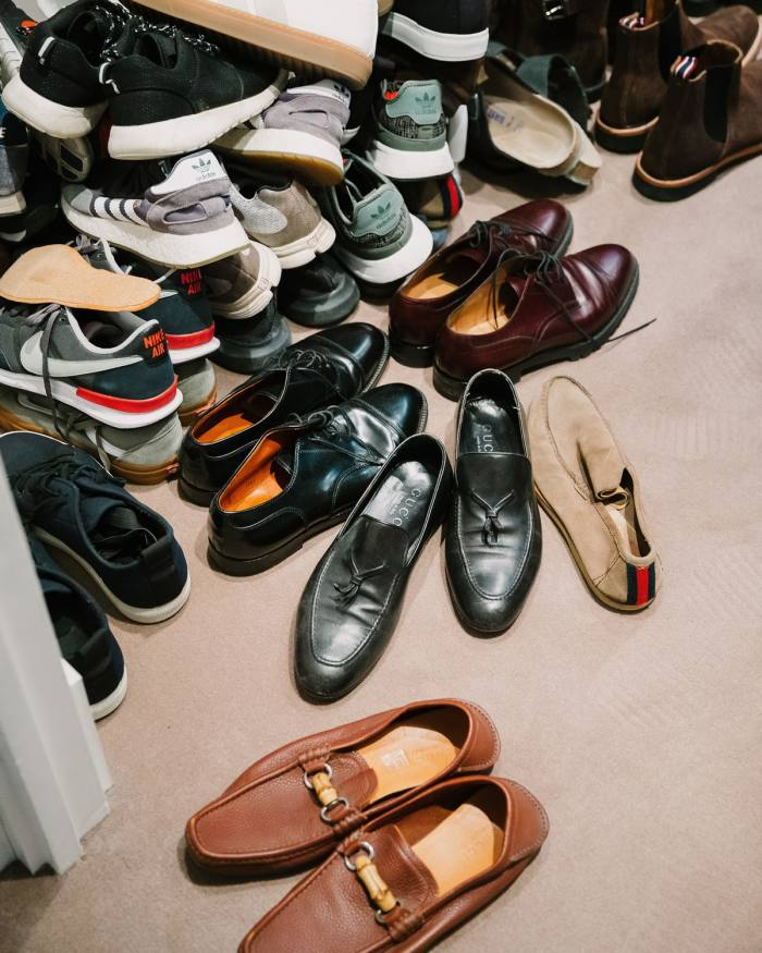 Part of his shoe collection