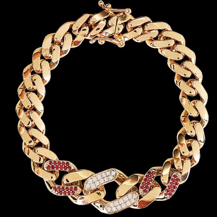 O Thongthai gold, diamond and ruby bracelet, POA