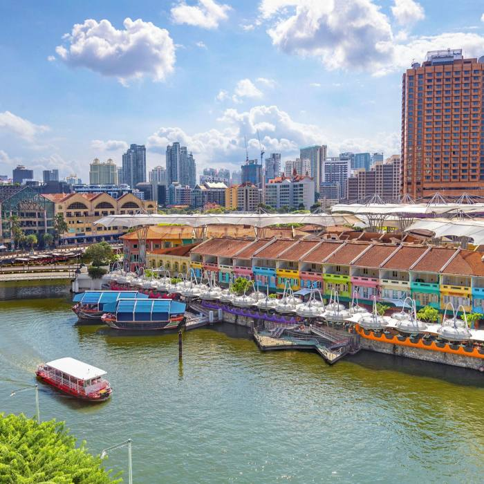Clarke Quay: home to some of Singapore's most popular bars