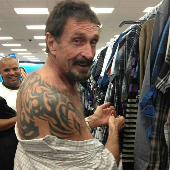 McAfee shopping in South Beach, Miami, in 2012