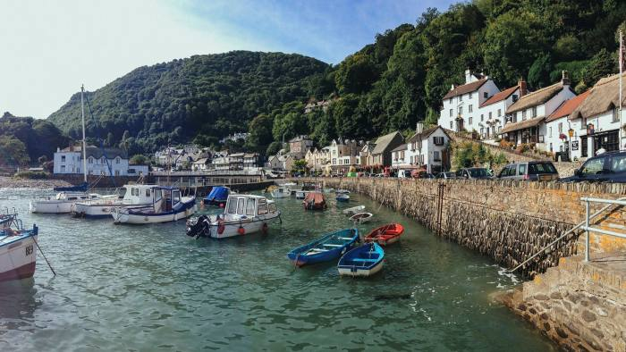 The seaside village of Lynmouth, Devon, whose local council passed a rule limiting sales of new homes to buyers who would use them as primary residences