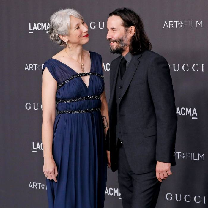 Visual artist Alexandra Grant with her partner KeanuReeves in 2019