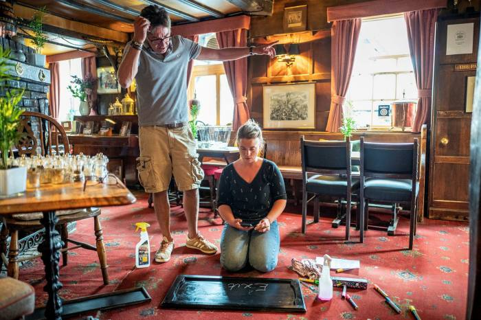 James Pullan, landlord of the Griffin Inn in East Sussex, has used the past few weeks to revamp the pub
