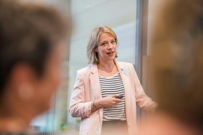 Portrait of Tanya de Grunwald, founder of the Good + Fair Employers Club