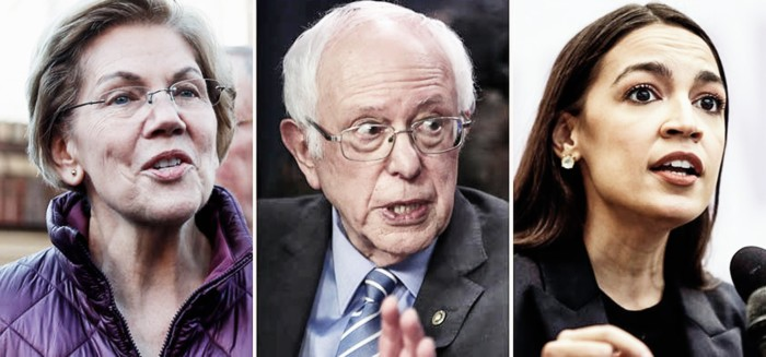 Elizabeth Warren, Bernie Sanders and Alexandra Ocasio-Cortez: the leaders on Capitol Hill of today's Democratic left have lost their leverage