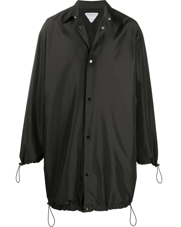 Bottega Veneta polyester midi raincoat, £905, farfetch.com