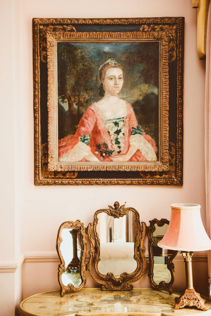 A late-18th-century painting from the owners' collection in Henry's Townhouse