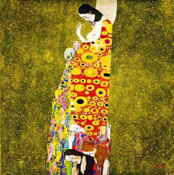 Hope, 1903, by Klimt
