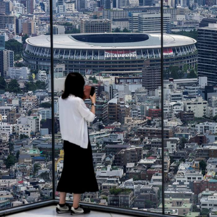 Tokyo's observation deck overlooking the National Stadium. No fans will be allowed in the games' venues because of Covid-19 restrictions