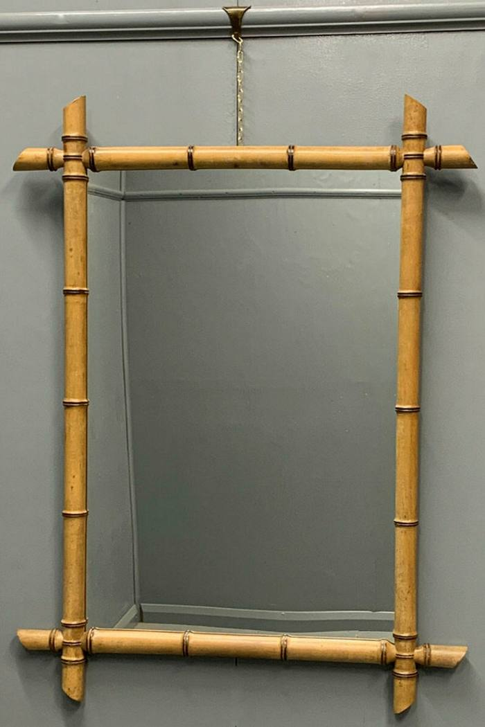 A French faux bamboo-style mirror, c1920 available at Tom Scott Antiques