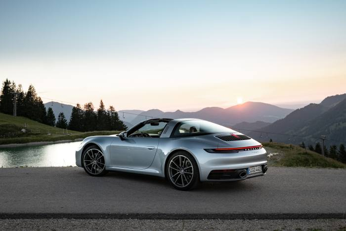 The 911 Targa 4 has a top speed of 180mph