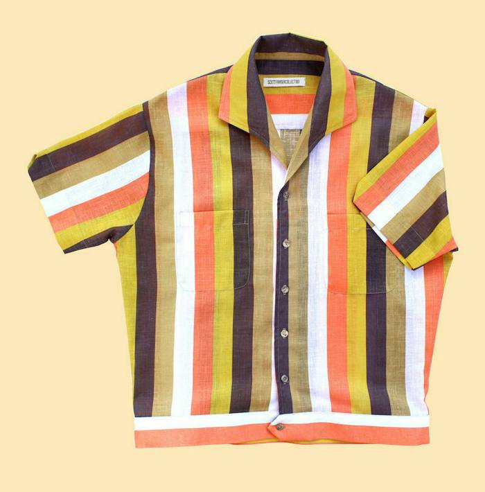 Scott Fraser Simpson yellow and coral striped Lido shirt, £190,scottfrasercollection.com