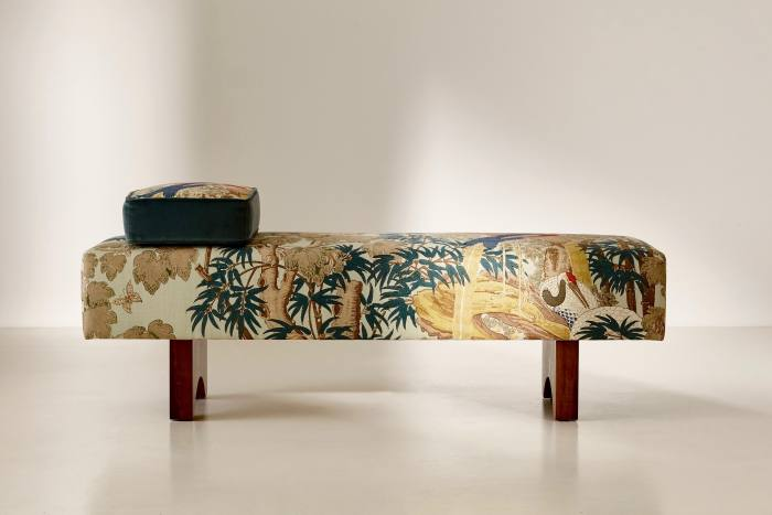 Toucan daybed with walnut feet, £3,195