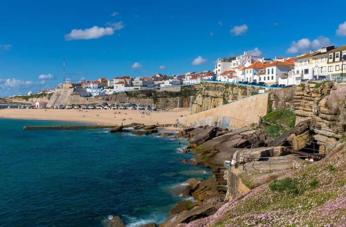 The Praia dos Pescadores (Fisherman's beach) in the village of Ericeira, Portugal