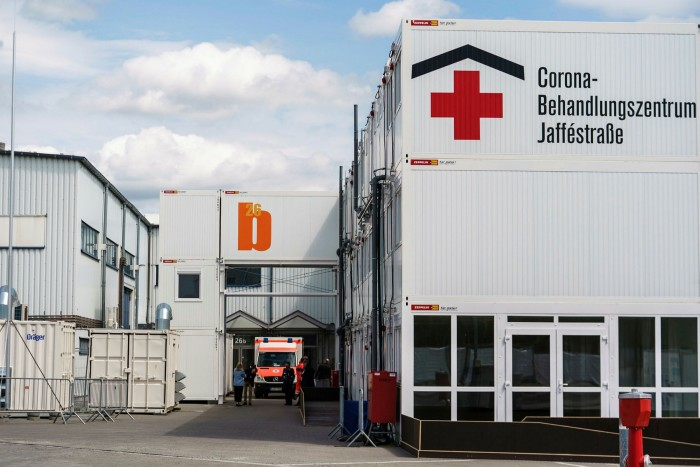 A temporary hospital for treating Covid-19 patients in Berlin