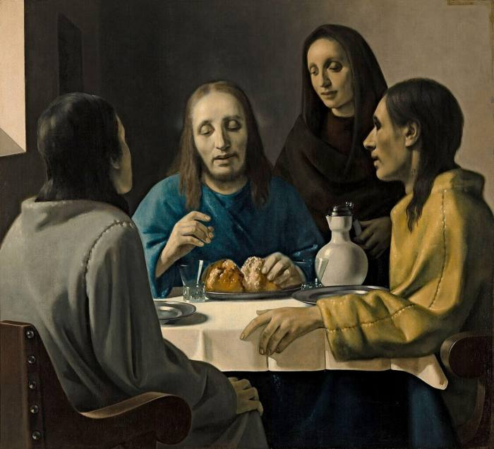 'We have here — I am inclined to say — the masterpiece of Johannes Vermeer of Delft,' thought art historian of this painting, 'Christ at Emmaus', depicting Jesus's appearance after his resurrection