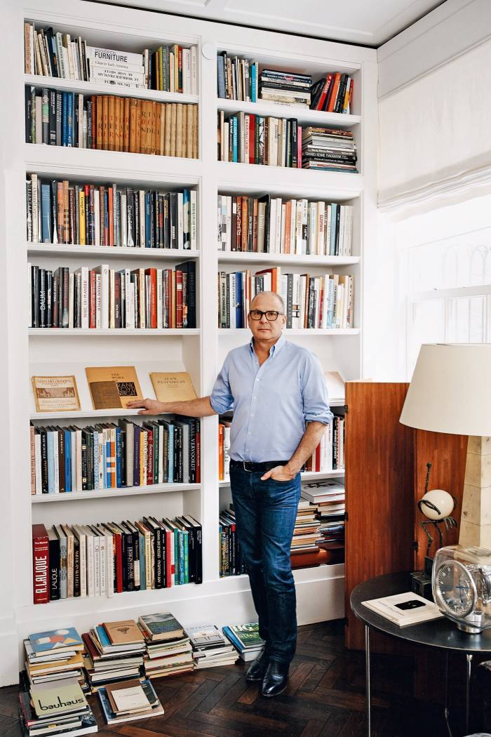 Not even the floor-to- ceiling majesty of Reed Krakoff's bookcase can contain the volume of manuscripts he keeps. Thechief artistic officer ofTiffany & Co is a design-book junkie whose eye takes in everything from Bauhaus to Lalique