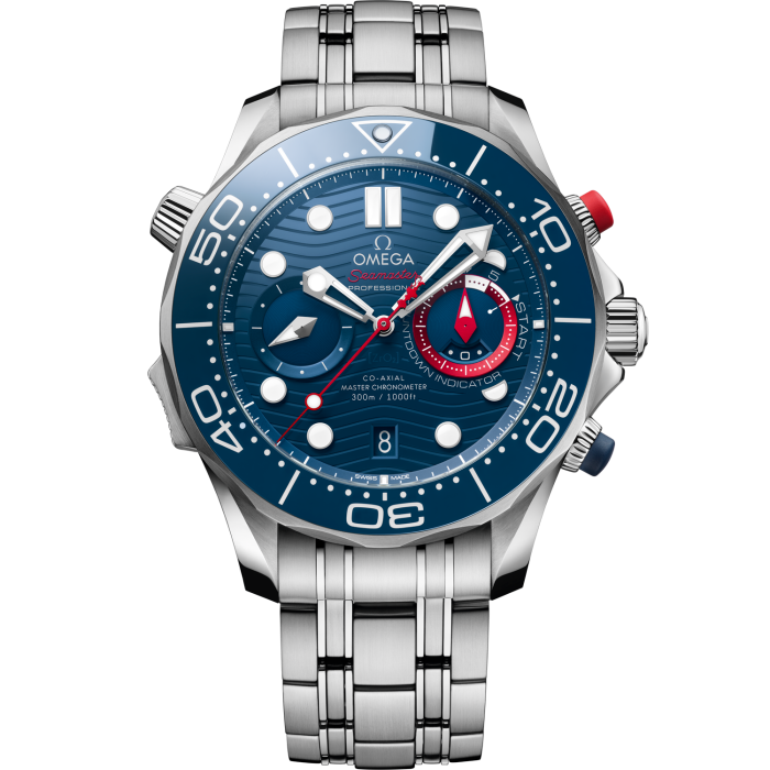 Omega steel Seamaster Diver 300M America's Cup Chronograph, £8,800