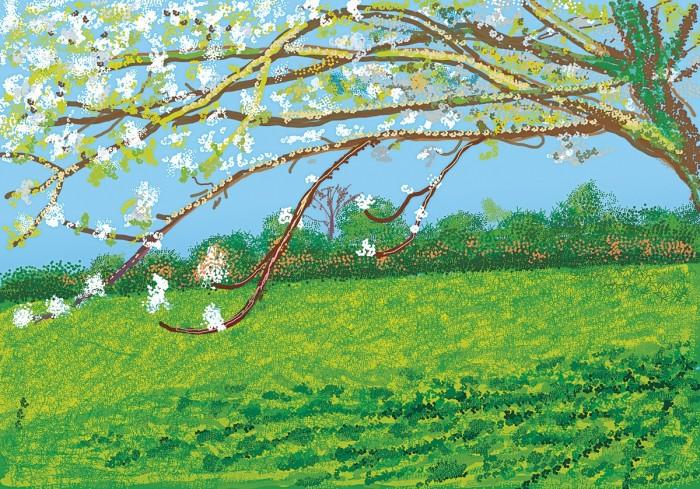 "David Hockney""No. 187"" 11th April 2020iPad painting"