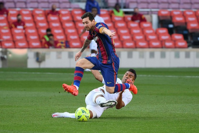 Lionel Messi in action for Barcelona. Champions League clubs have benefitted from multibillion-euro broadcasting deals, while their players have become global superstars, but owners wanted more - and guaranteed - revenues
