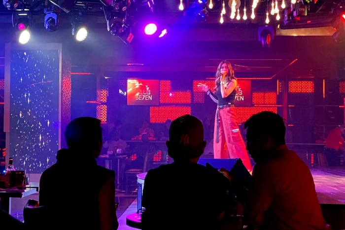 A singer performs at a nightclub in Dubai. The UAE has long pitched itself as an outpost of tolerance in a region riven by religious extremism