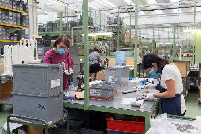 A production line at PBA's factory in Tezze sul Brenta