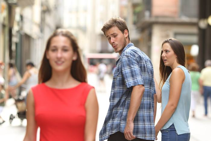 The 'Distracted Boyfriend' picture which became a meme