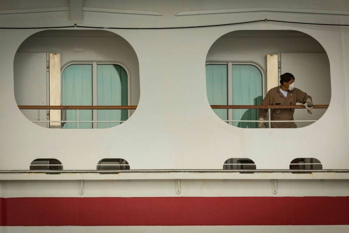 The US Centers for Disease Control and Prevention has ruled that it will only allow cruise liner employees to disembark if the companies guarantee to charter private flights to return them home