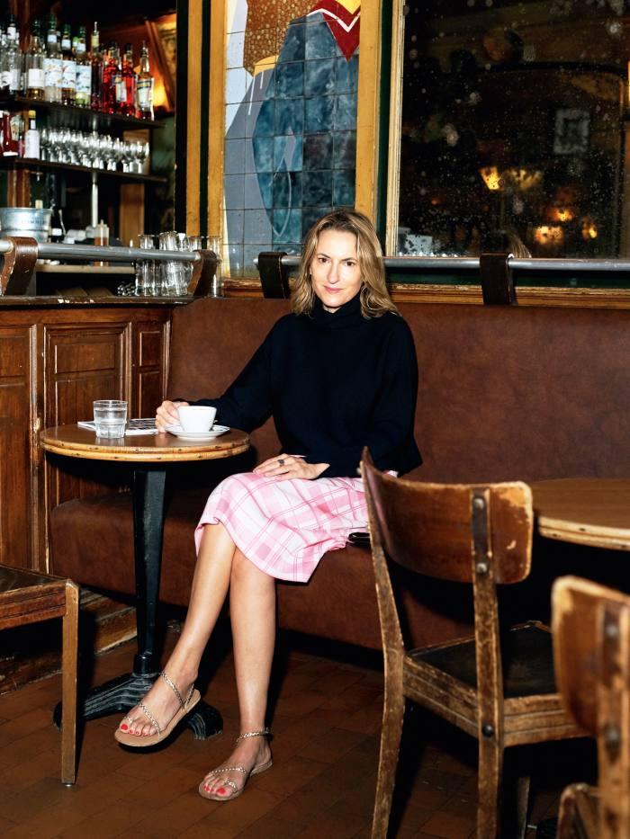 Christine d'Ornano drinks coffee at her old haunt Café La Palette