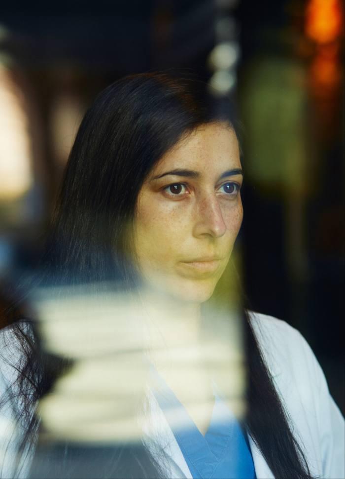 Natalia Guzman-Seda, resident anaesthesiologist at a teaching hospital in Brooklyn, New York, US