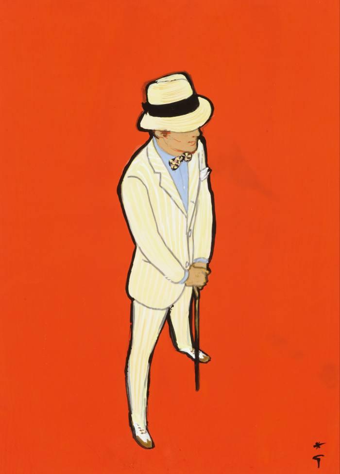 Cover for Sir #4 byRené Gruau, shown at Fashion Illustration Gallery