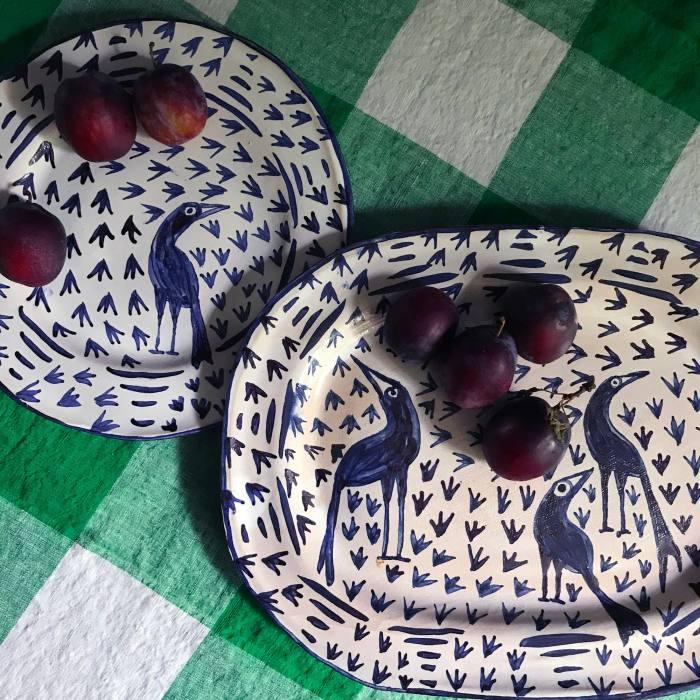Gavin Houghton Blue Bird platter, £190