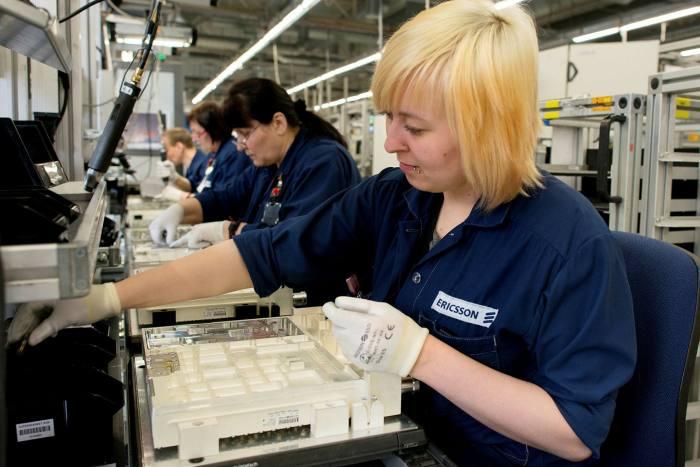 Una fábrica de Ericsson en Estonia. La compañía se ha afianzado en el enorme mercado chino de 5G.