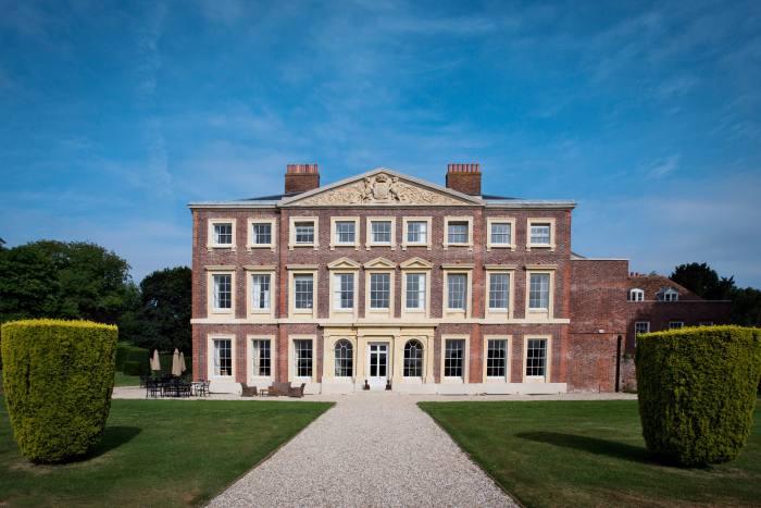 The façade of Goodnestone Park, near Canterbury