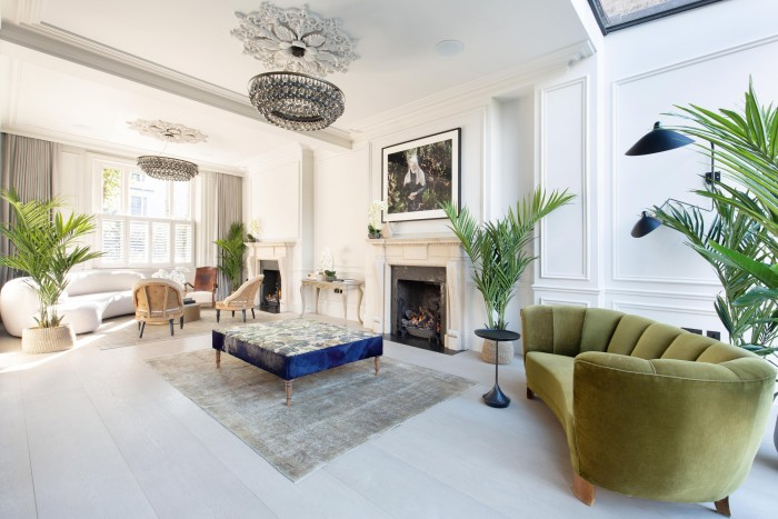 Inside the house in Chepstow Villas