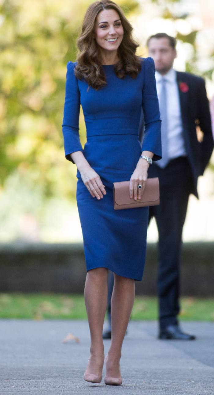 The Duchess of Cambridge visiting the Imperial War Museum in 2018
