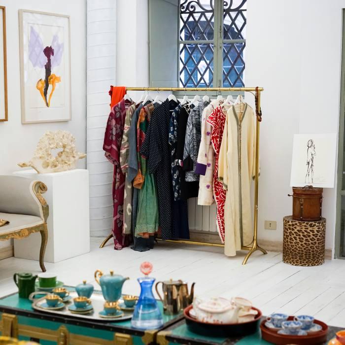 At L'Archivio di Monserrato, Soledad Twombly's vibrant fashion designs...