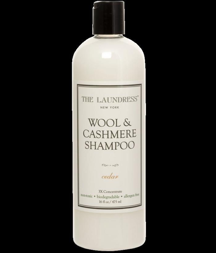 The Laundress Wool and Cashmere shampoo, £14.50, selfridges.com